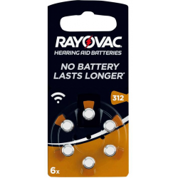 Rayovac Knopf Acoustic S.312 6-er Blister
